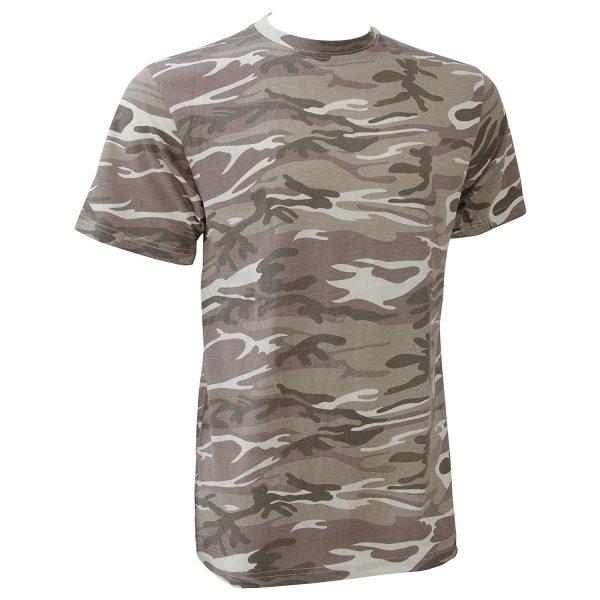 Camiseta camuflaje árido