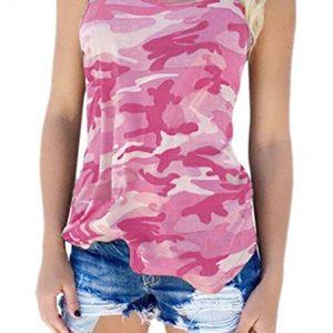 Camiseta camuflaje rosa