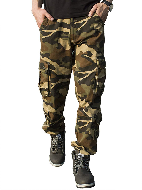 Pantalones militares camuflaje hombre